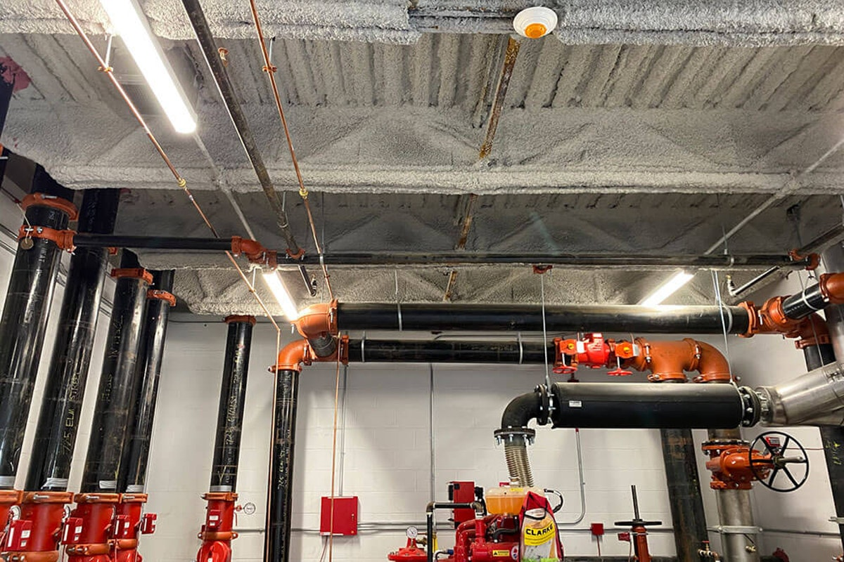 Kaloutas fireproofing service in industrial building Why It's Important to Focus on Fireproofing Your Business and How Kaloutas Can Help