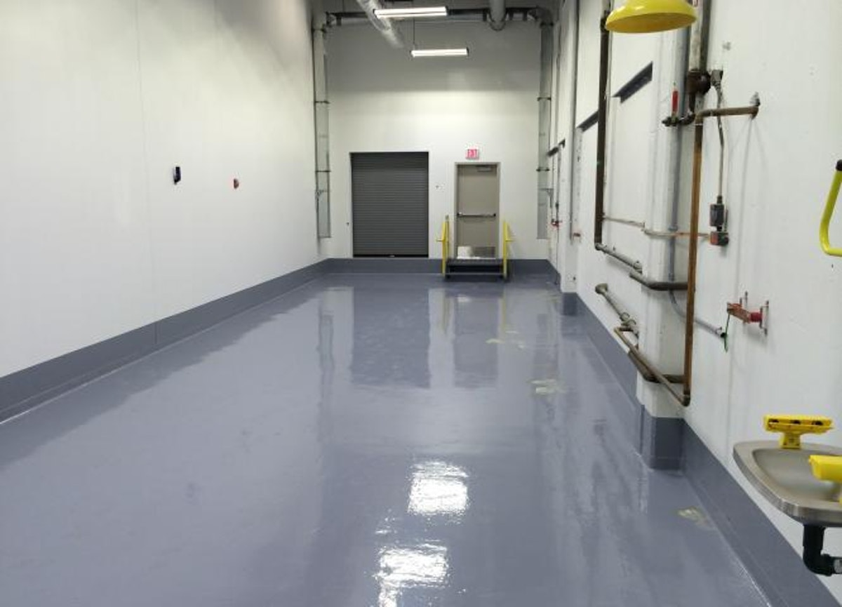 Installing a Floor System Designed for Chemical Containment in Wilmington, MA