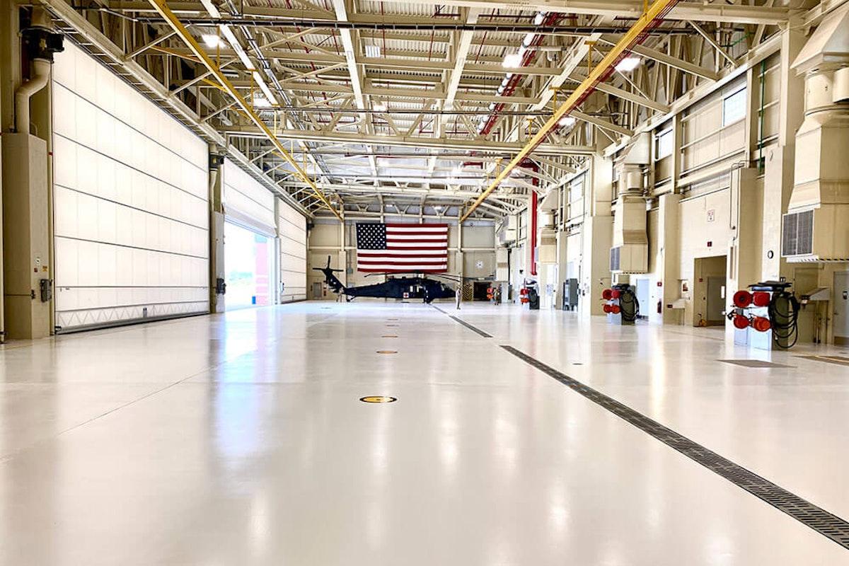 Urethane coated aerospace floor Abrasion Resistant and High-Wear Urethane Coatings