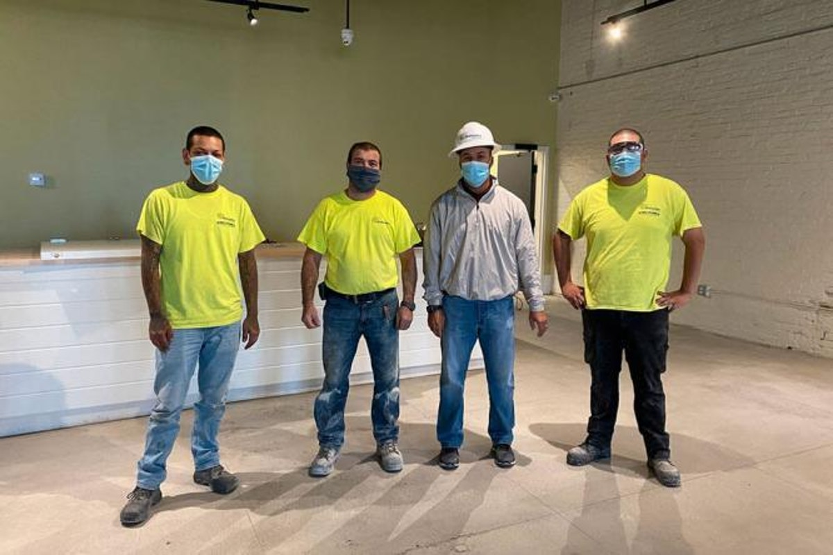 Four Kaloutas contractors standing together Projects Can Be Done Year-Round with the Right Contractor. Here Are the Top 5 Tips to Make Your Comm